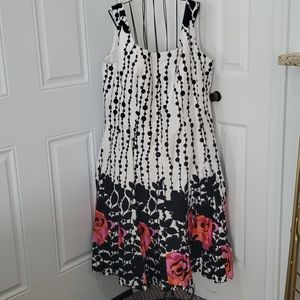 NWOT Black and White With A Pop of Color Dress.